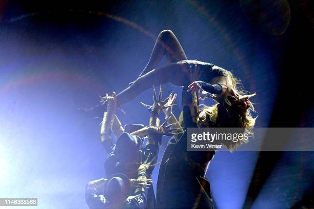 Paula Abdul performs onstage during the 2019 Billboard Music Awards at MGM Grand Garden Arena on May 01 2019 in Las Vegas Nevada