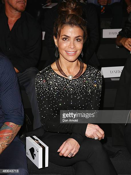 Paula Abdul sits front row during the Carla Zampatti show during MercedesBenz Fashion Week Australia 2014 at Carriageworks on April 6 2014 in Sydney...