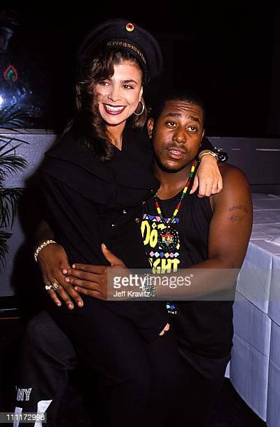 Paula Abdul Tone Loc during 1989 MTV Video Music Awards in Los Angeles California United States
