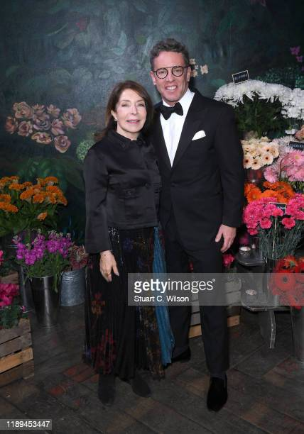 Paula and Glenn Wallace attend the gala dinner in honour of Edward Enninful winner of the Global VOICES Award 2019 during #BoFVOICES on November 22...