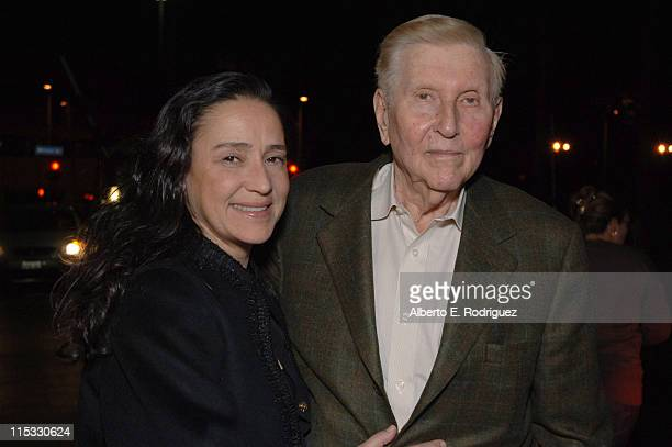 Paula and Sumner Redstone during Zodiac Los Angeles Premiere Arrivals at Paramount Studios in Hollywood California United States