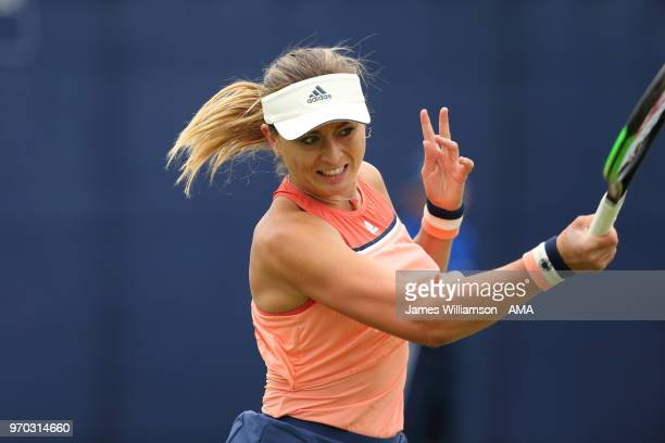 Paula Badosa Gibert of Spain during Day 1 of the Nature Valley open at Nottingham Tennis Centre on June 9 2018 in Nottingham England