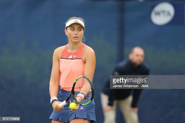 Paula Badosa Gibert of Spain during Day 2 of the Nature Valley open at Nottingham Tennis Centre on June 10 2018 in Nottingham England