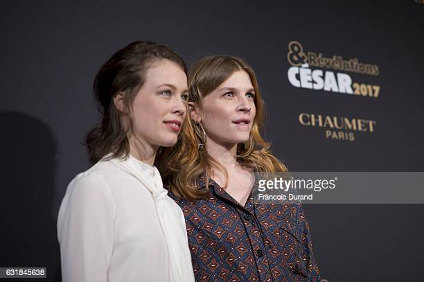 Paula Beer and Clemence Poesy attend the Cesar Revelations 2017' photocall at the Salon Chaumet on January 16 2017 in Paris France