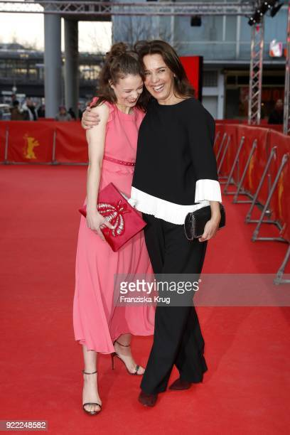 Paula Beer and Desiree Nosbusch attend the 'Bad Banks' premiere during the 68th Berlinale International Film Festival Berlin at Zoo Palast on...