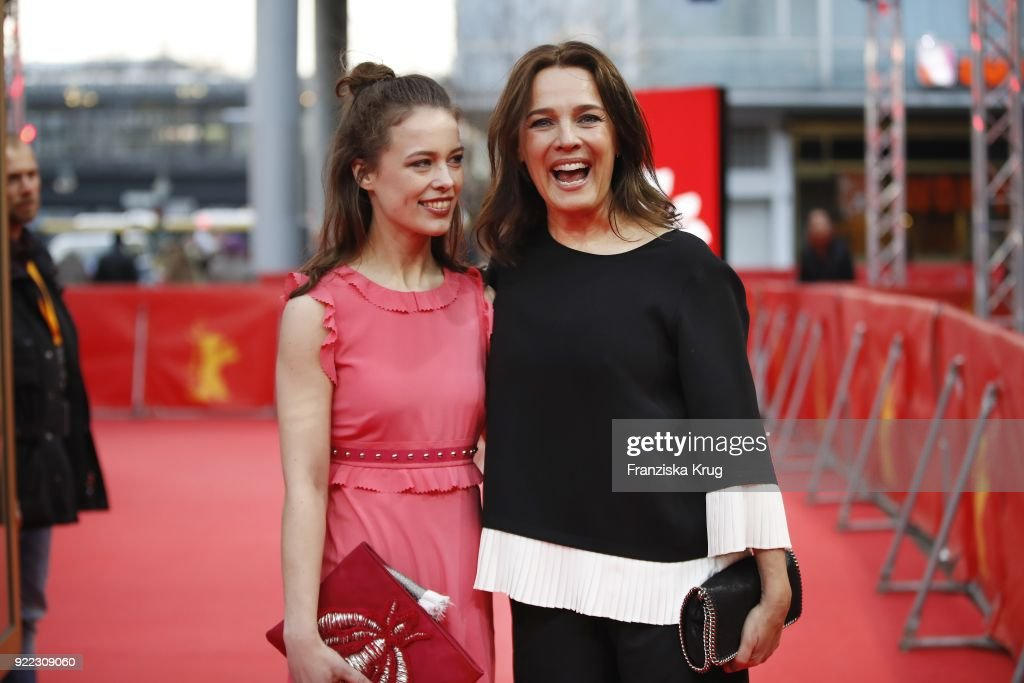 Paula Beer and Desiree Nosbusch attend the 'Bad Banks' premiere during the 68th Berlinale International Film Festival Berlin at Zoo Palast on February 21, 2018 in Berlin, Germany.