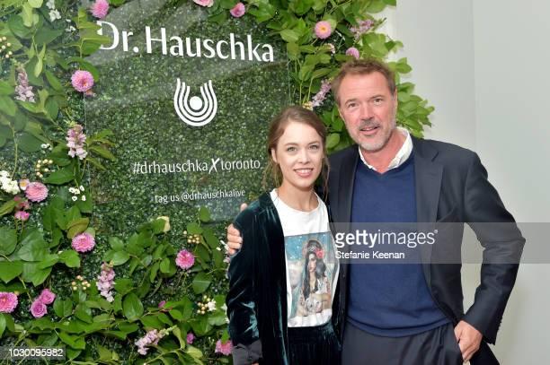Paula Beer and Sebastian Koch attend German Films X Dr Hauschka Reception at the 43rd Toronto International Film Festival on September 9 2018 in...