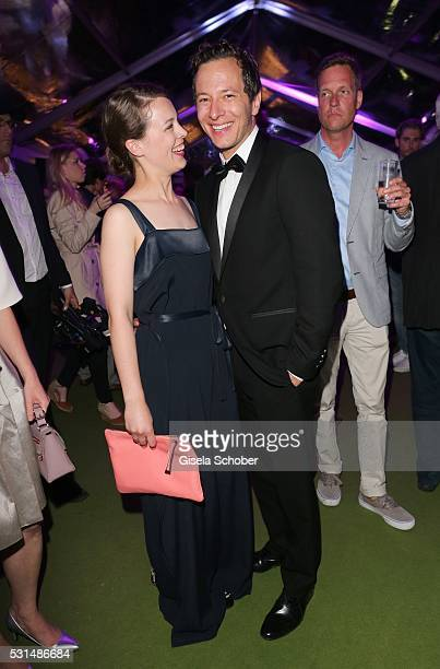 Paula Beer and Trystan Puetter during the German Films Reception at the annual 69th Cannes Film Festival at Villa Rothschild on May 14 2016 in Cannes...