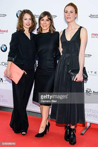 Paula Beer Anneke Kim Sarnau and Theresa von Eltz attend the nominee dinner for the German Film Award 2015 Lola on April 30 2016 in Berlin Germany