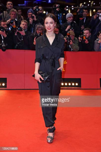 Paula Beer arrives for the closing ceremony of the 70th Berlinale International Film Festival Berlin at Berlinale Palace on February 29 2020 in...
