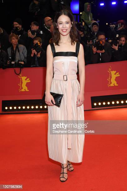 """Paula Beer arrives for the opening ceremony and """"My Salinger Year"""" premiere during the 70th Berlinale International Film Festival Berlin at Berlinale..."""