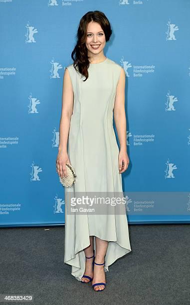 Paula Beer attends 'The Dark Valley' photocall during 64th Berlinale International Film Festival at Grand Hyatt Hotel on February 10 2014 in Berlin...