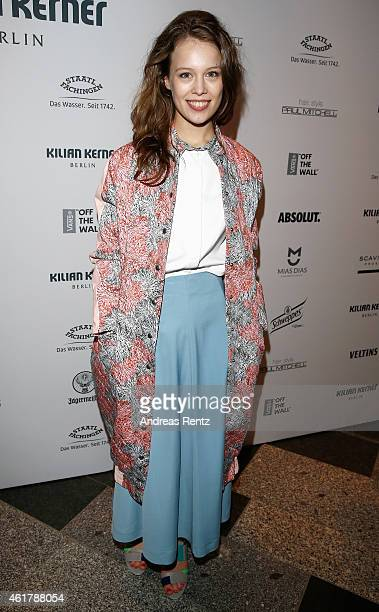 Paula Beer attends the Kilian Kerner show during the MercedesBenz Fashion Week Berlin Autumn/Winter 2015/16 at Kosmos on January 19 2015 in Berlin...