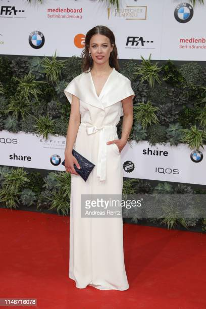Paula Beer attends the Lola - German Film Award red carpet at Palais am Funkturm on May 03, 2019 in Berlin, Germany.
