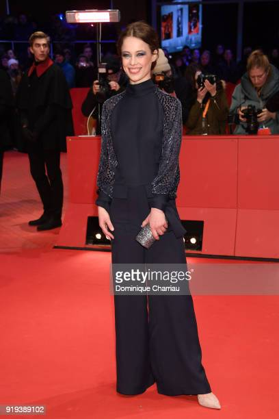 Paula Beer attends the 'Transit' premiere during the 68th Berlinale International Film Festival Berlin at Berlinale Palast on February 17 2018 in...