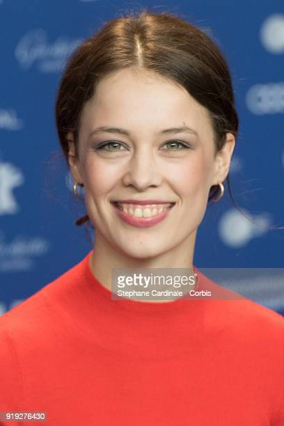 Paula Beer attends the 'Transit' press conference during the 68th Berlinale International Film Festival Berlin at Grand Hyatt Hotel on February 17...