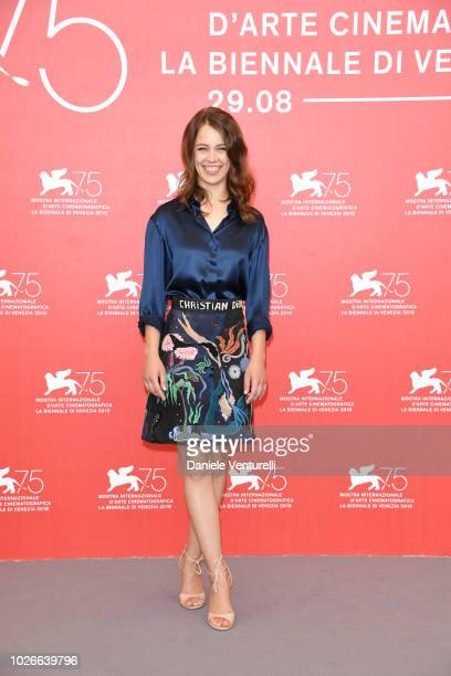 Paula Beer attends 'Werk Ohne Autor ' photocall during the 75th Venice Film Festival at Sala Casino on September 4 2018 in Venice Italy