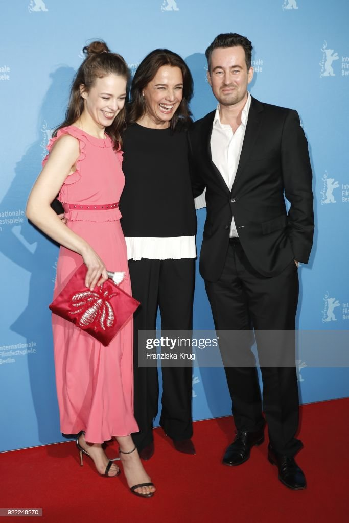 Paula Beer, Desiree Nosbusch and Christian Schwochow attend the 'Bad Banks' premiere during the 68th Berlinale International Film Festival Berlin at Zoo Palast on February 21, 2018 in Berlin, Germany.