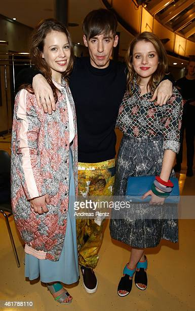 Paula Beer , Kilian Kerner and Jella Haase attends the Kilian Kerner show during the Mercedes-Benz Fashion Week Berlin Autumn/Winter 2015/16 at...