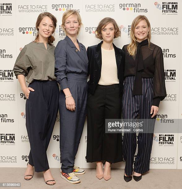 Paula Beer Sandra Huller Julia Jentsch and Liv Lisa Fries attend the 'Face To Face With German Films' photocall during the 60th BFI London Film...