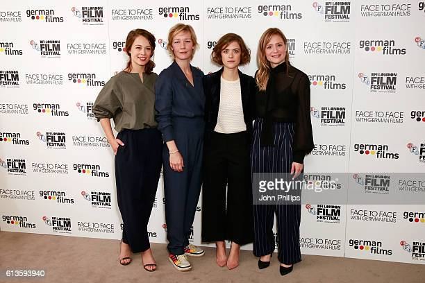 Paula Beer Sandra Huller Liv Lisa Fries and Julia Jentsch attend the 'Face To Face With German Films' photocall during the 60th BFI London Film...