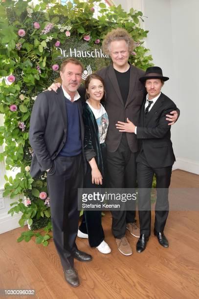 Paula Beer Sebastian Koch Florian Henckel von Donnersmarck and Tom Schilling attend German Films X Dr Hauschka Reception at the 43rd Toronto...