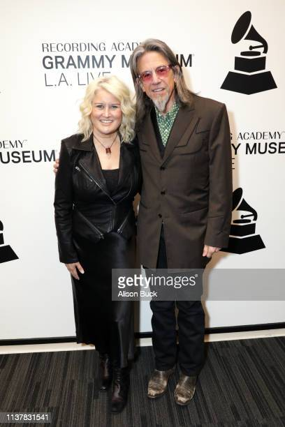 Paula Cole and Artistic Director of the GRAMMY Museum Scott Goldman attend The Drop Paula Cole at GRAMMY Museum on April 17 2019 in Los Angeles...