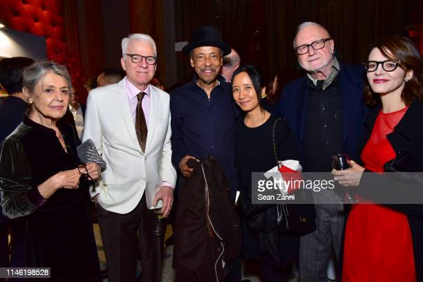 Paula Cooper Steve Martin Henry Threadgill Senti Threadgill Frederic Tuten and Anne Stringfield attend BOMB's 38th Anniversary Gala Auction at...