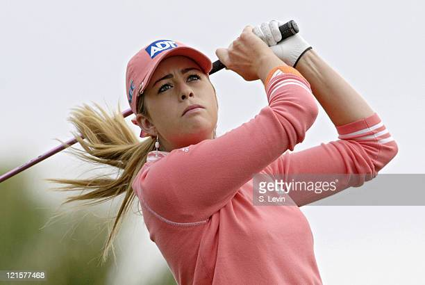 Paula Creamer during second round action at the Kraft Nabisco Championship at The Mission Hills Country Club in Rancho Mirage California on Friday...