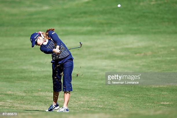 Paula Creamer hits a shot during the second round of the SemGroup Championship presented by John Q Hammons on May 2 2008 at Cedar Ridge Country Club...