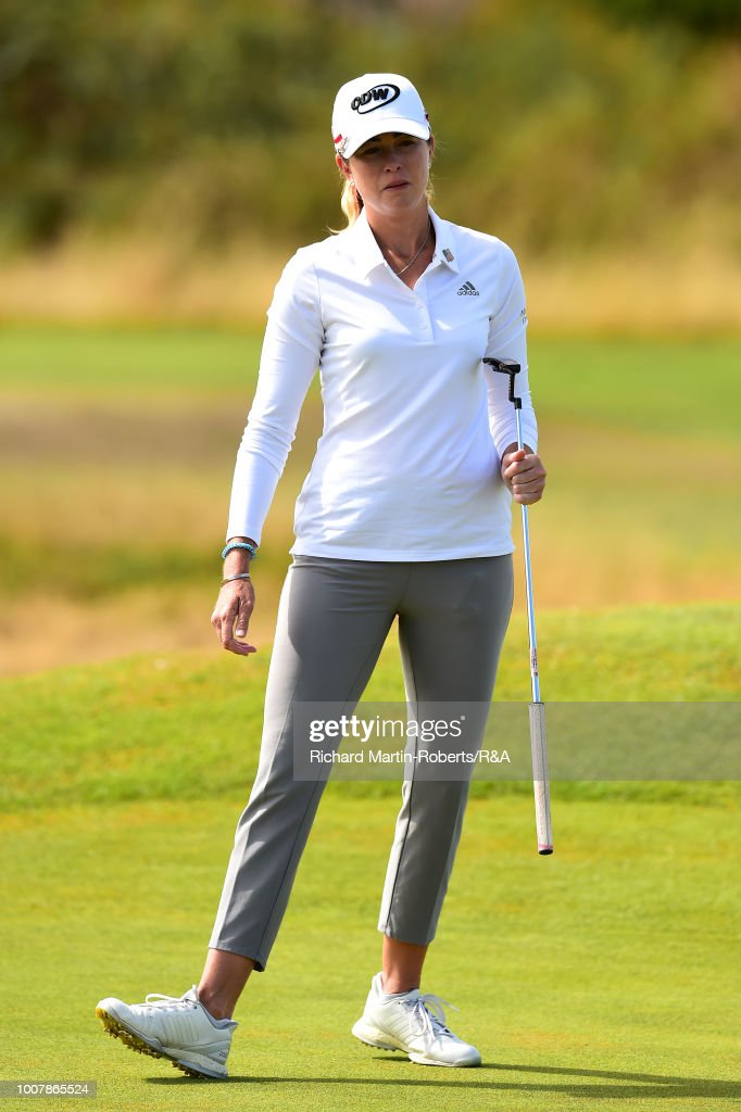 paula creamer of the united states reacts on the 1st green