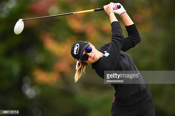 Paula Creamer of the USA hits her tee shot on the 13th hole during the second round of the TOTO Japan Classics 2015 at the Kintetsu Kashikojima...