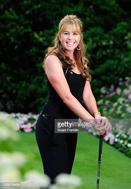 Paula Creamer of USA poses for a photgraph prior to the gala dinner after the third round of the 2010 Evian Masters on July 24 2010 in Evian France