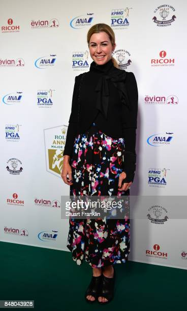Paula Creamer of USA poses for a picture at the Rolex Annika Awards ceremony after the second round of The Evian Championship 2017 at Evian Resort...