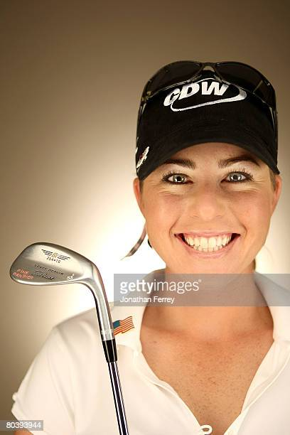 Paula Creamer poses for a portrait during the LPGA Safeway International at the Superstition Mountain Golf and Country Club on March 26 2008 in...