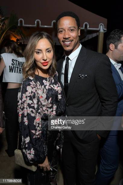 Paula Da Silva and Brian J White attend the Audi preEmmy celebration at Sunset Tower in Hollywood on Thursday September 19 2019