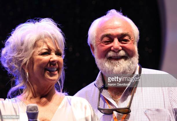 Paula Deen and her husband Michael Groove attend South Beach Wine And Food Festival 2013 - The Q hosted by Paula Deen and Sons at Delano beachside at...