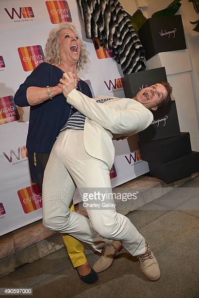 Paula Deen and Louis van Amstel attend Celebrating The Women Of EVINE Live at Villa Blanca on September 29 2015 in Beverly Hills California