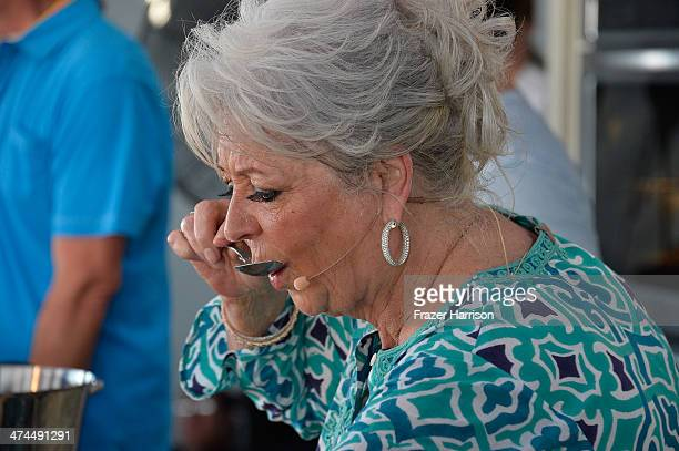 Paula Deen attends KitchenAid® Culinary Demonstrations during the Food Network South Beach Wine Food Festival at Grand Tasting Village on February 23...