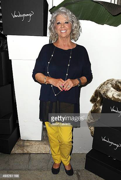 Paula Deen attends the EVINE Live celebration at Villa Blanca on September 29 2015 in Beverly Hills California