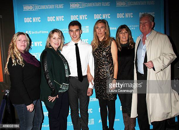 Paula Dorn Anne Henry Evan Henzi Amy Berg Anita Henzi and John Connolly attend An Open Secret Screening 2014 Doc NYC at SVA Theater on November 14...