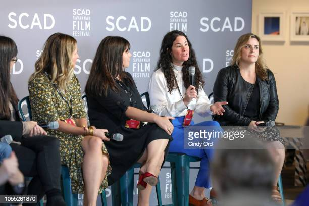 Paula DuPrŽ Pesmen Amy Nauiokas Shannon Gibson Lizzie Nastro and Kaila York speak at the 'Wonder Women' Panel Producers Panel during the 21st SCAD...