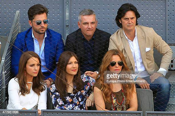 Paula Echavarria David Bustamante Javier Castillo 'Poty' and his wife Isabel attend the Mutua Madrid Open tennis tournament at La Caja Magica on May...