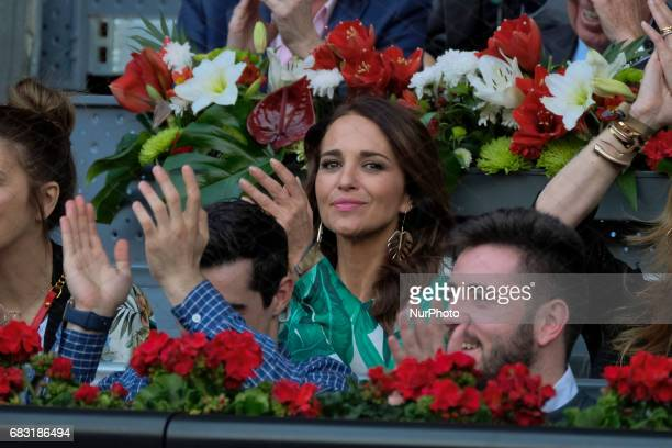 Paula Echevarría Celebrity Sightings attends the final Rafa Nadal at the Mutua Madrid Open tennis tournament held at the Magic Box in Madrid Spain 14...