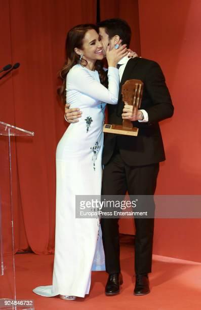Paula Echevarria and Alejo Sauras attend 'Fotogramas Awards' gala at Joy Eslava on February 26 2018 in Madrid Spain