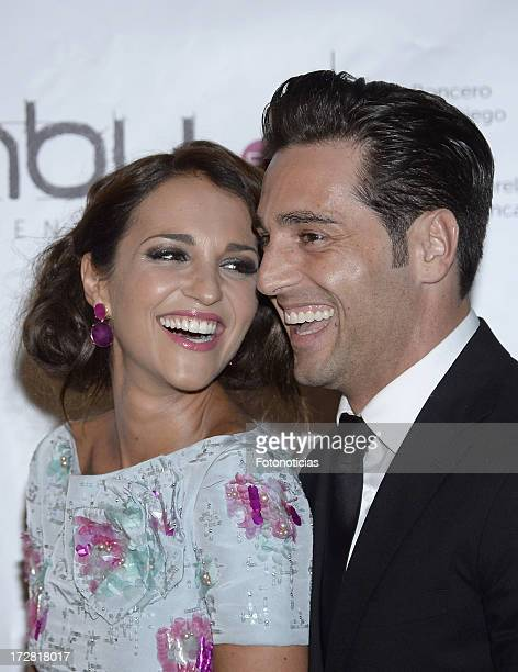 Paula Echevarria and David Bustamante attend Bambu Producciones anniversary party at Shoko on July 4 2013 in Madrid Spain