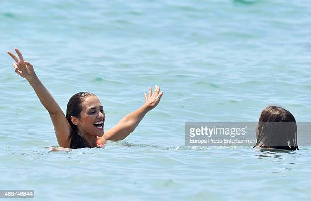 Paula Echevarria and her daughter Daniela Bustamante are seen on July 14 2015 in Ibiza Spain