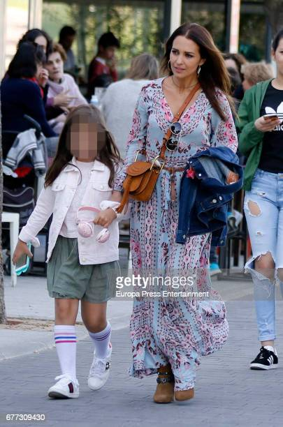 Paula Echevarria and her daughter Daniela Bustamante are seen on May 1 2017 in Madrid Spain