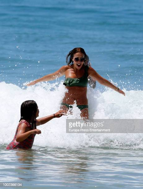 Paula Echevarria and her daughter Daniella Bustamante are seen on July 19 2018 in Cadiz Spain