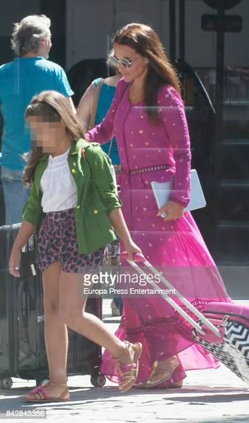 Paula Echevarria and her daughter Daniella Bustamante are seen departing to Vitoria FesTVal on train at Chamartin Train station on September 4 2017...